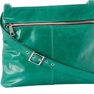 Hobo Lorna model crossbody purse in JADE